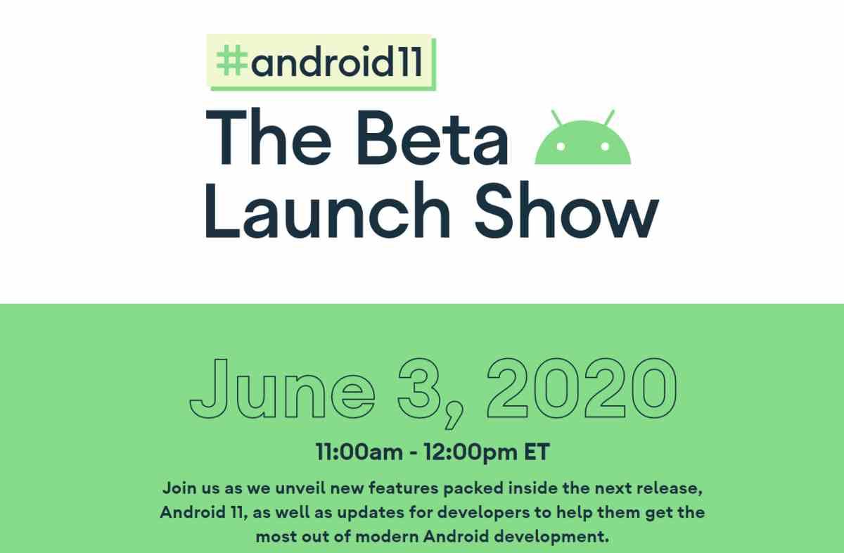 La beta de Android 11 será presentada a través de YouTube el 3 de junio