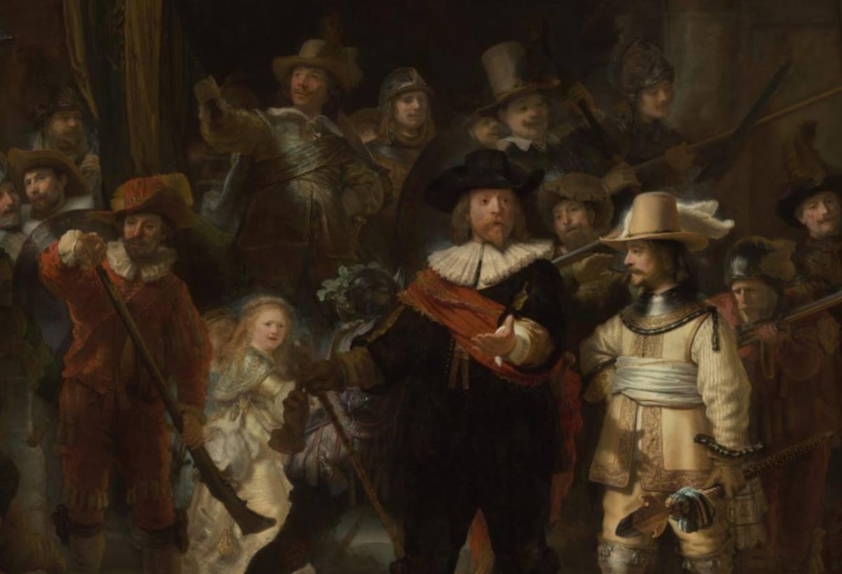 Impresionante fotografía de 44 gigapíxeles de la obra «La ronda de la noche» de Rembrandt