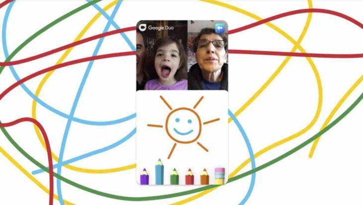 Garabatos en Google Duo