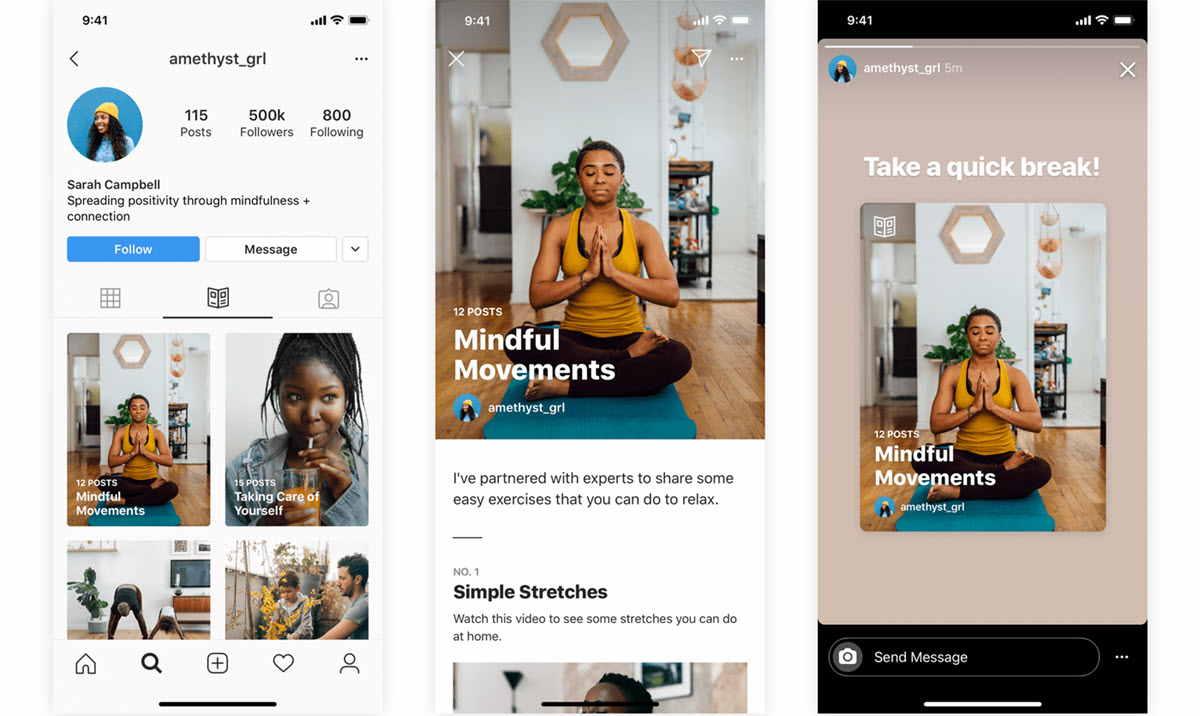 Instagram ahora muestra guías con consejos sobre bienestar y salud mental