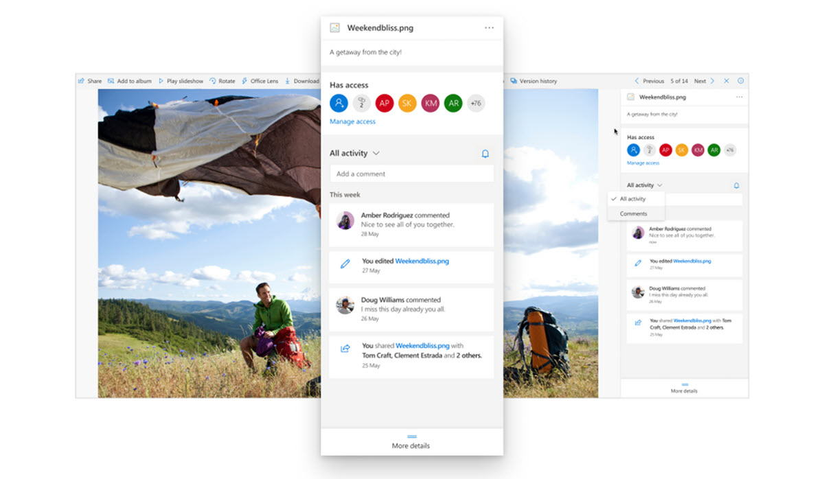 OneDrive lanza nuevas funciones para el uso compartido de archivos