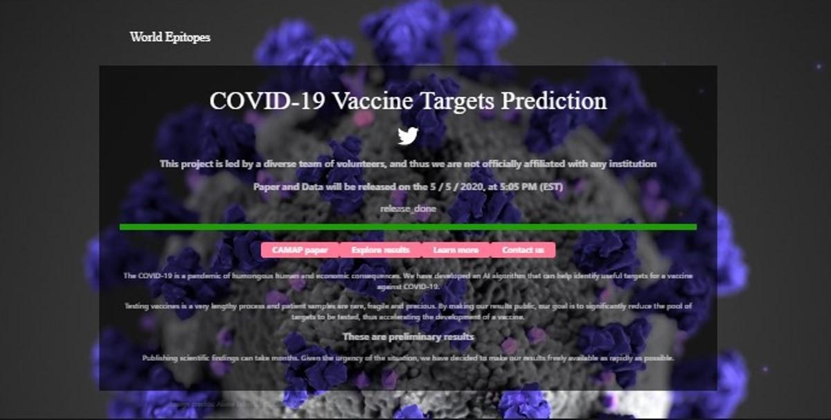 Página web utiliza inteligencia artificial para pronosticar éxito de la vacuna COVID-19