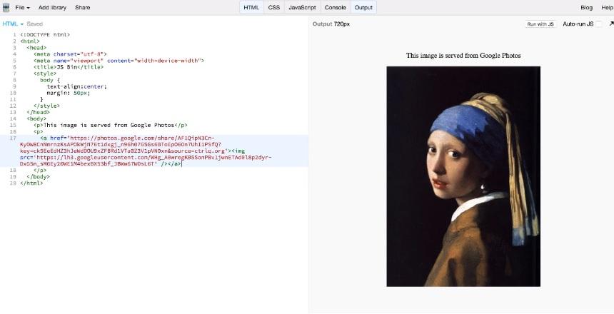 Pasos para anadir imágenes de Google Fotos en un sitio web