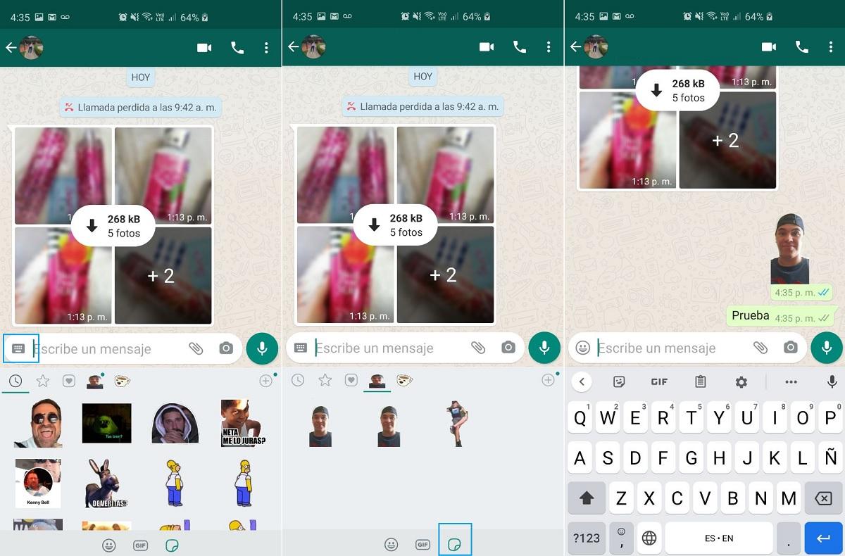 Tercer paso para crear Sticker en WhatsApp