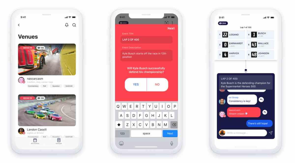 Así es Venue, la nueva aplicación experimental de Facebook para los eventos en vivo