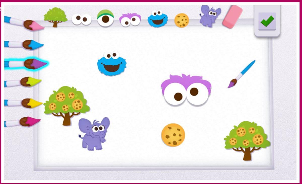 Tres plataformas interactivas con actividades para niños