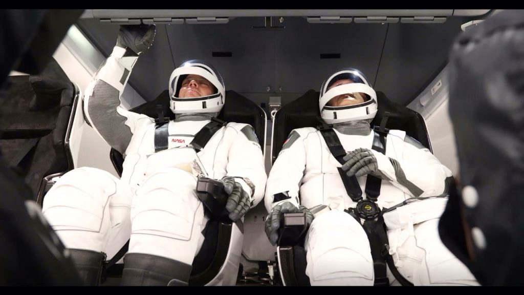 Astronautas de la misión Demo-2