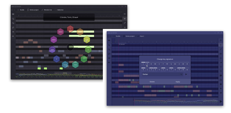 Helio, un programa gratuito de composición musical