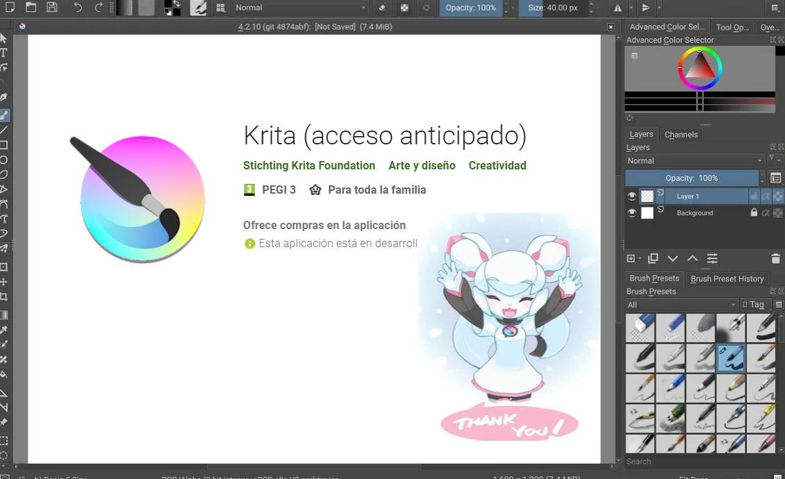 Krita, el famoso editor de imágenes, ya tiene versión android y Chrome OS
