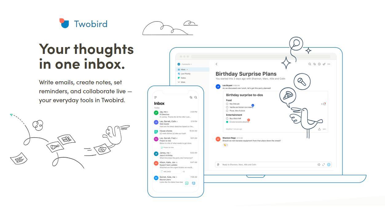 Twobird, un nuevo cliente de email pensado para el trabajo en equipo