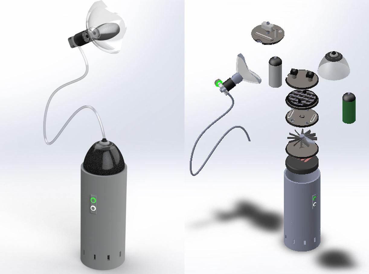 Un respirador impreso en 3D que atiende a 20 pacientes al mismo tiempo