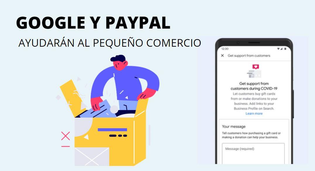 Google se asocia con PayPal y GoFundMe para ayudar a los pequeños negocios