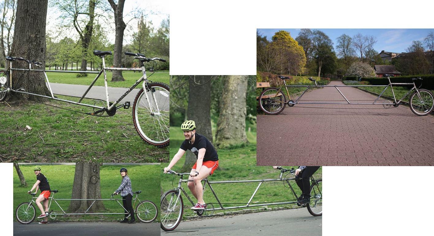 Una bicicleta de 4,3 metros, para respetar la distancia entre personas
