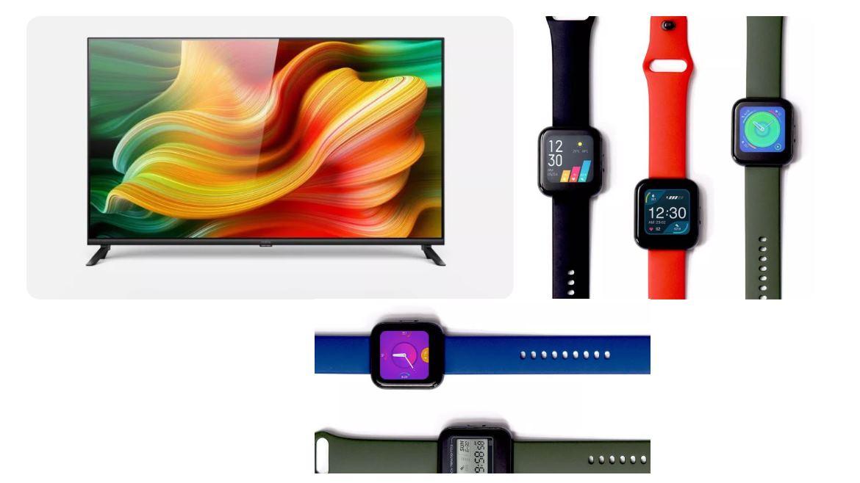 Realme presenta su primer reloj inteligente y su primera TV