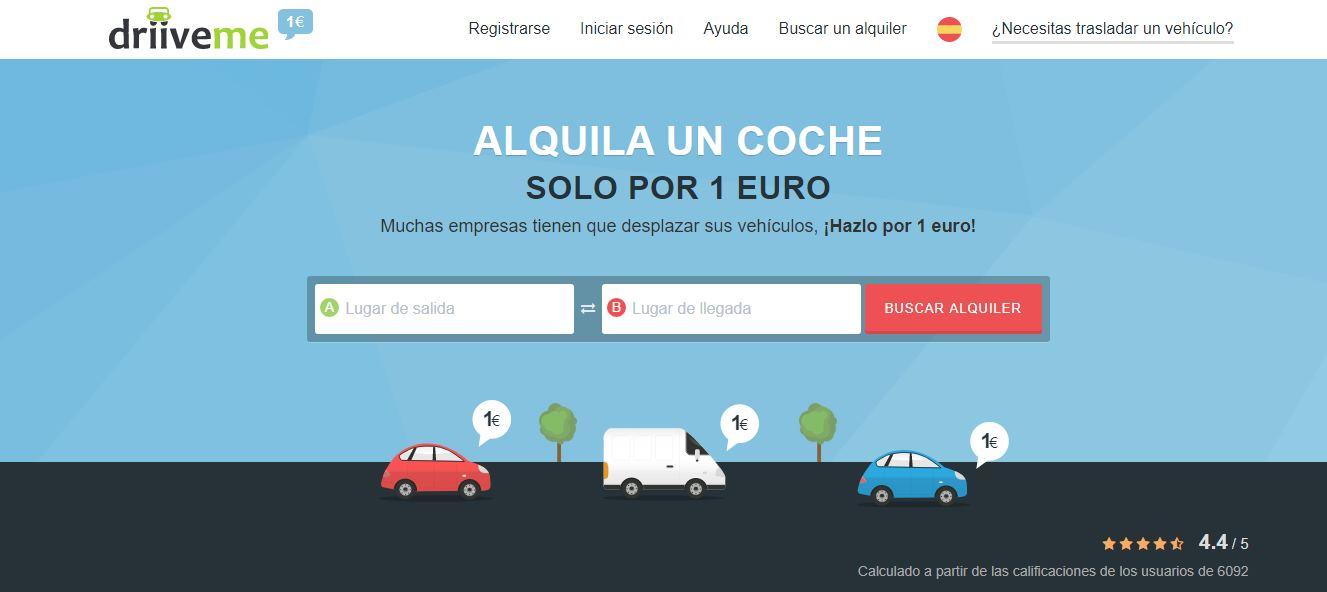 DriiveMe, alquiler de coches por 1 euro, mientras llevamos de vuelta los vehículos a las compañías