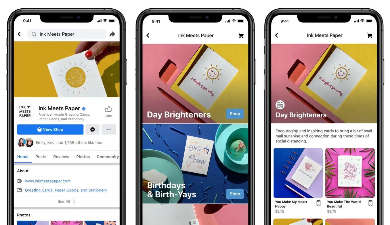 Facebook lanza función para crear tiendas gratis en Instagram y Facebook