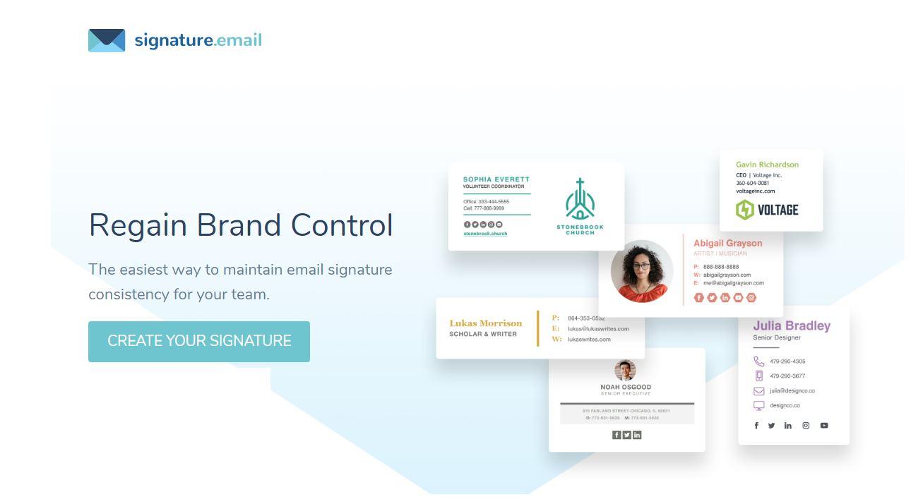 Para crear firmas de email de forma sencilla y elegante
