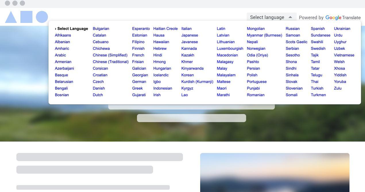 Google ofrece gratis su traductor de sitios web para uso no comercial