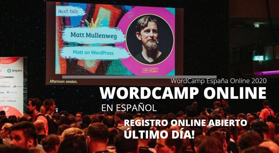 WordCamp España Online 2020 – El mayor evento de WordPress en español se acerca