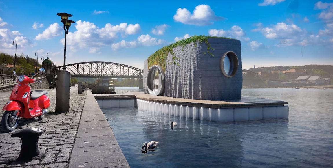 Casa flotante construida con impresión 3D en 48 horas