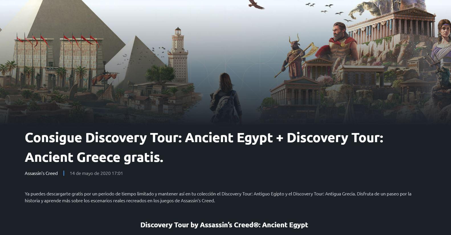 Paseos virtuales por el Antiguo Egipto y Grecia, de Ubisoft, ahora gratis