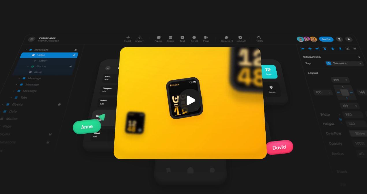Framer, herramienta para hacer prototipos de diseño, en versión web