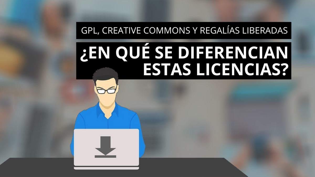 Conoce las diferencias entre GPL, Creative Commons y Royalty free