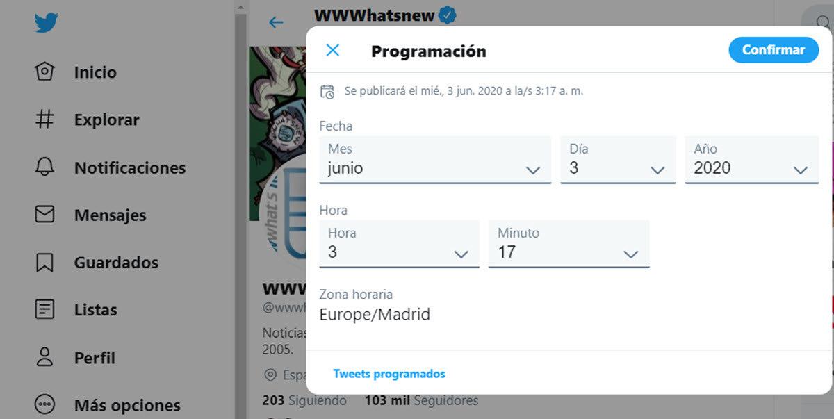 Twitter ya permite programar y guardar tweets desde la web