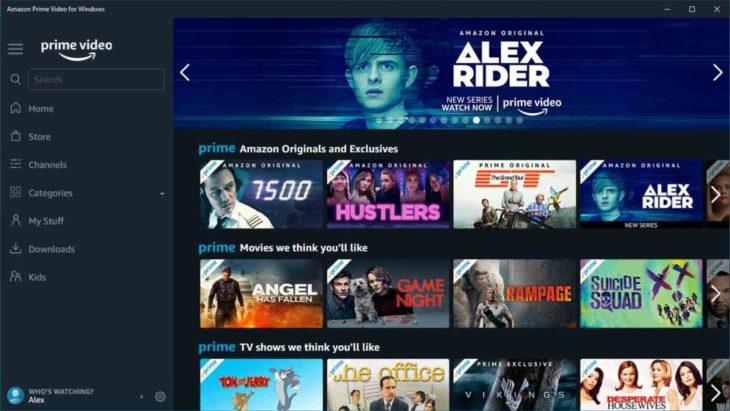 Amazon Prime Video App W10