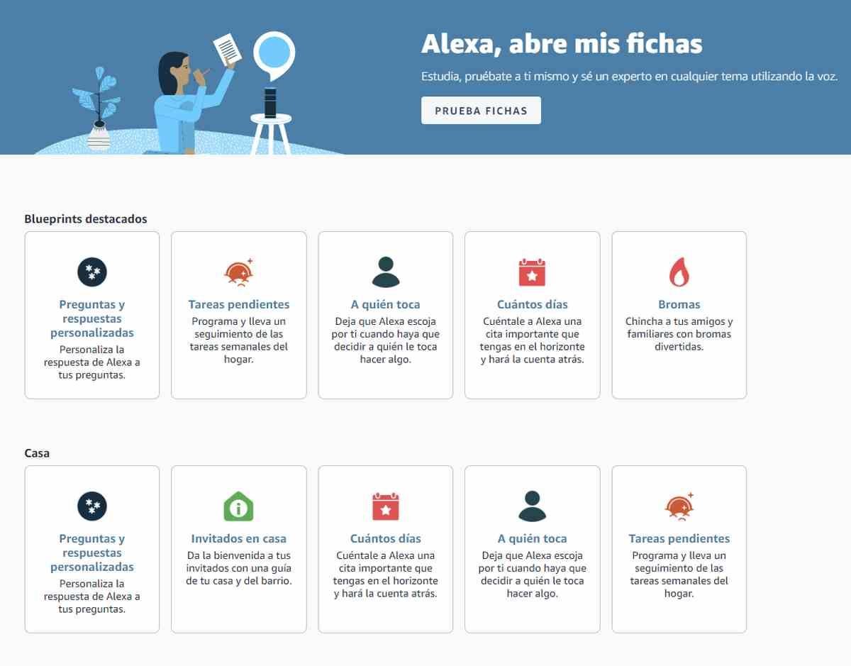 Alexa Blueprints en España