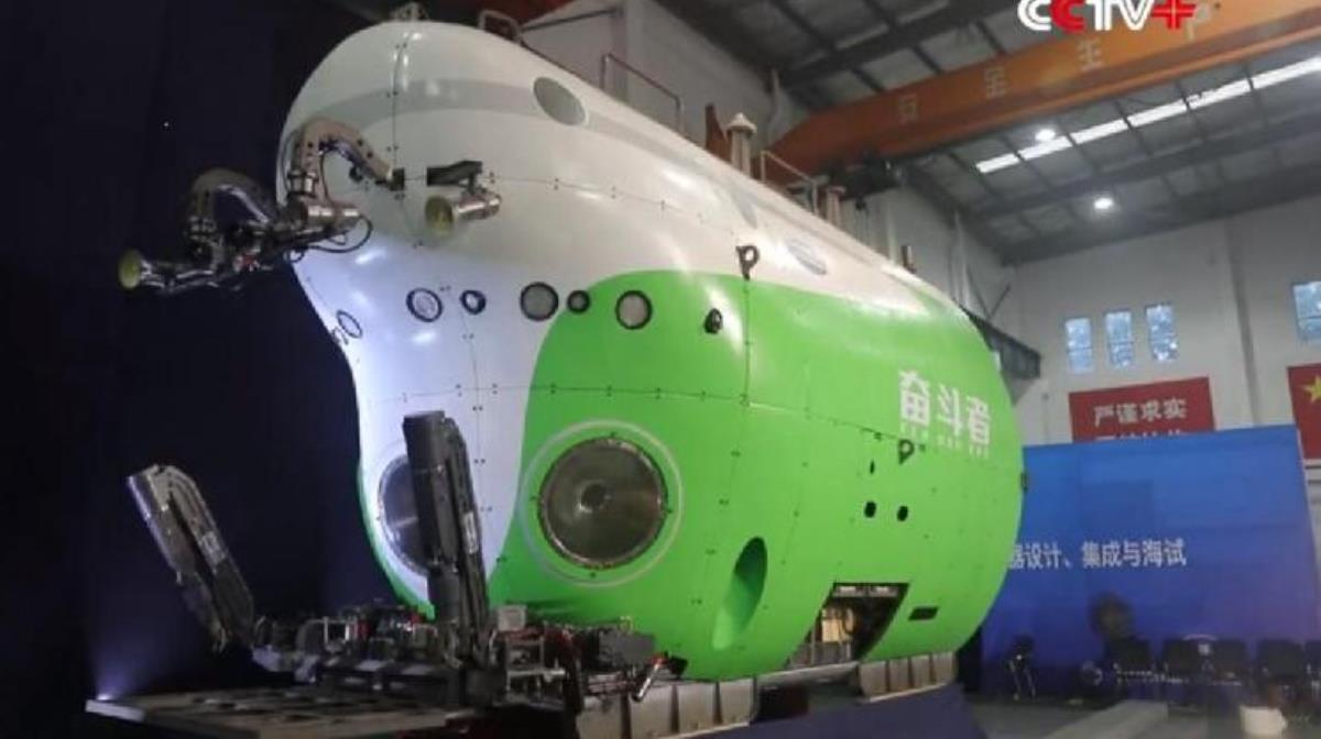 Fendouzhe: Sumergible creado por china con capacidad para llegar a 10 mil metros de profundidad