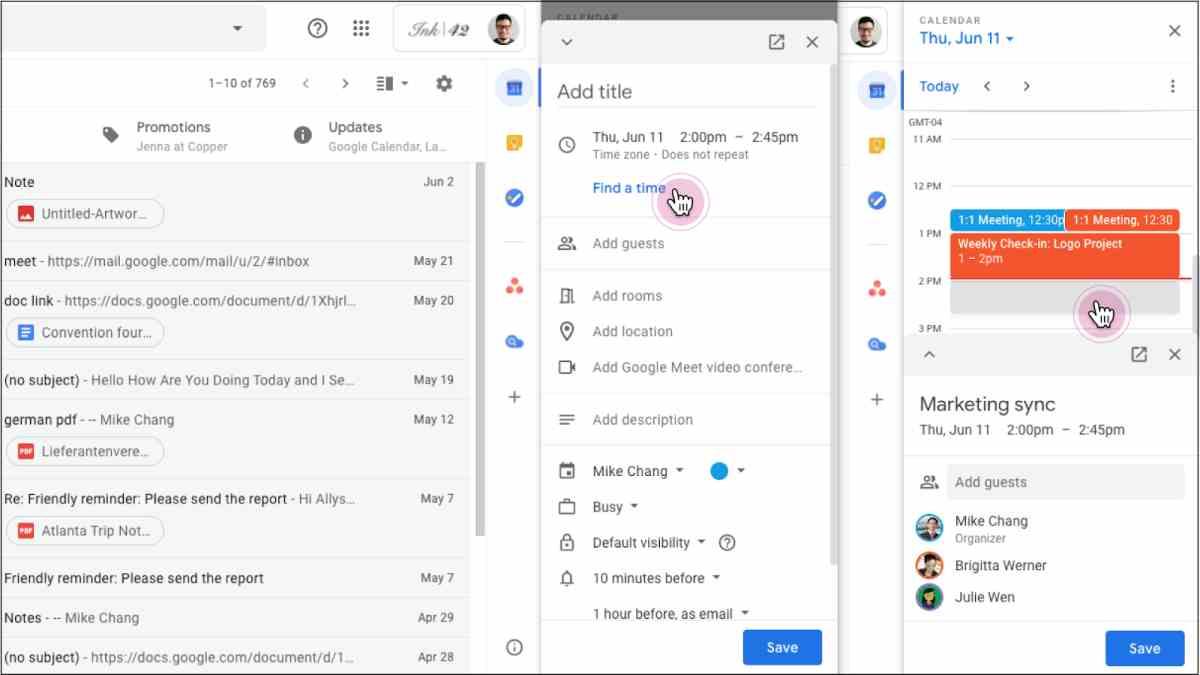 Pronto será posible editar eventos de Calendar directamente en Gmail y Docs