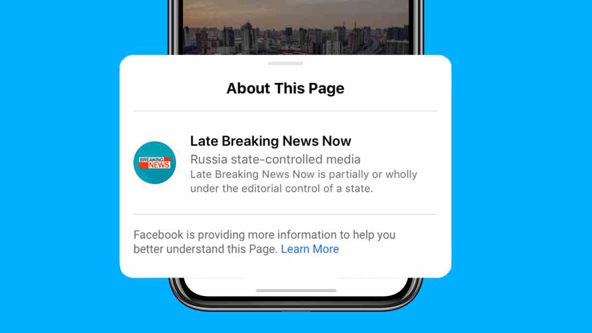 Facebook comienza el etiquetado de medios controlados por gobiernos