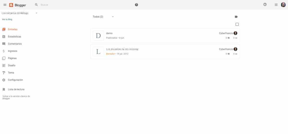 Blogger despliega finalmente su nueva interfaz web basada en Material Design
