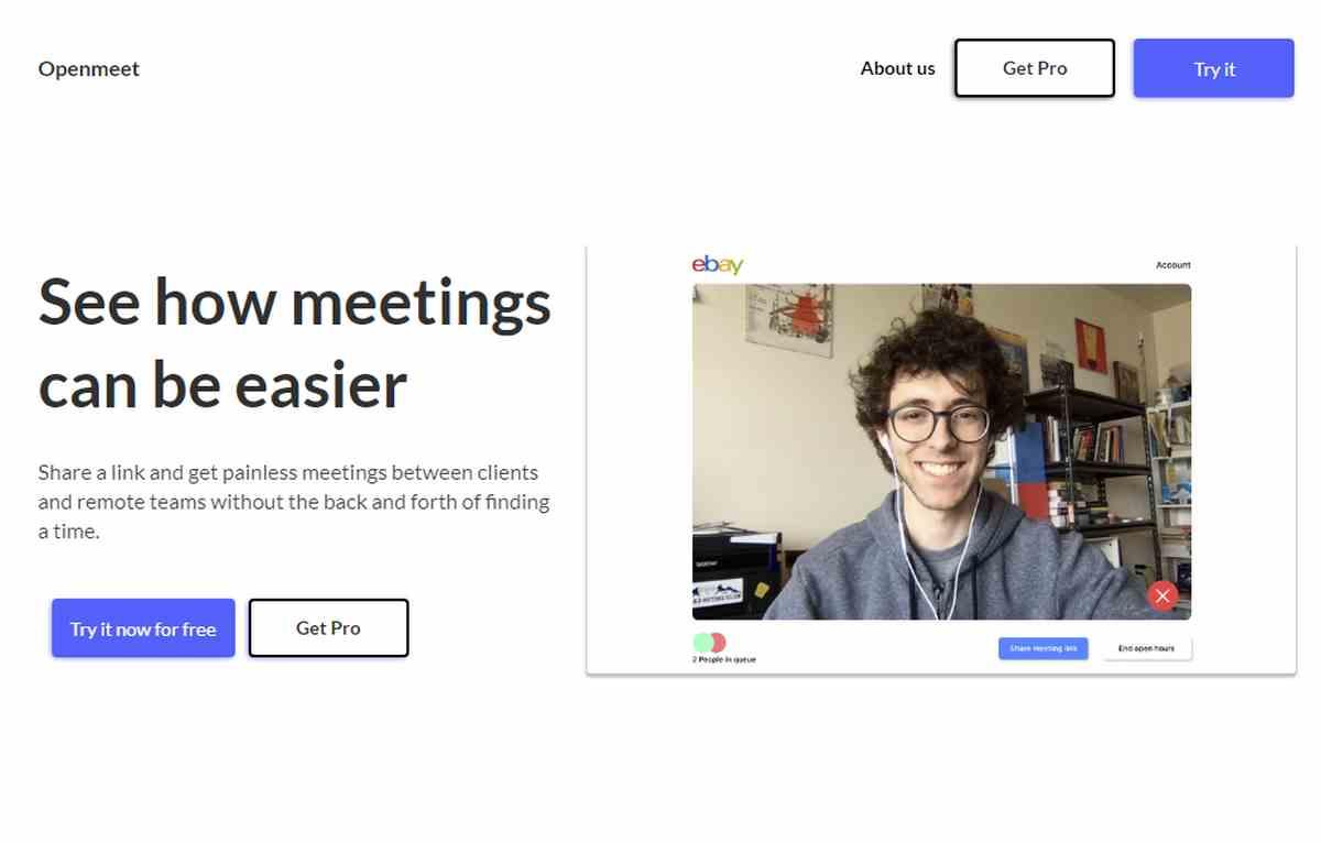 Openmeet, para mantener encuentros por videollamada de la forma más simple posible