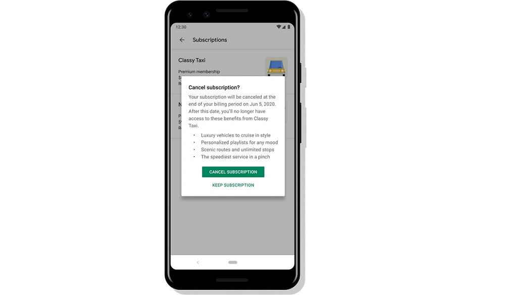 Recordar los beneficios de suscripción a app
