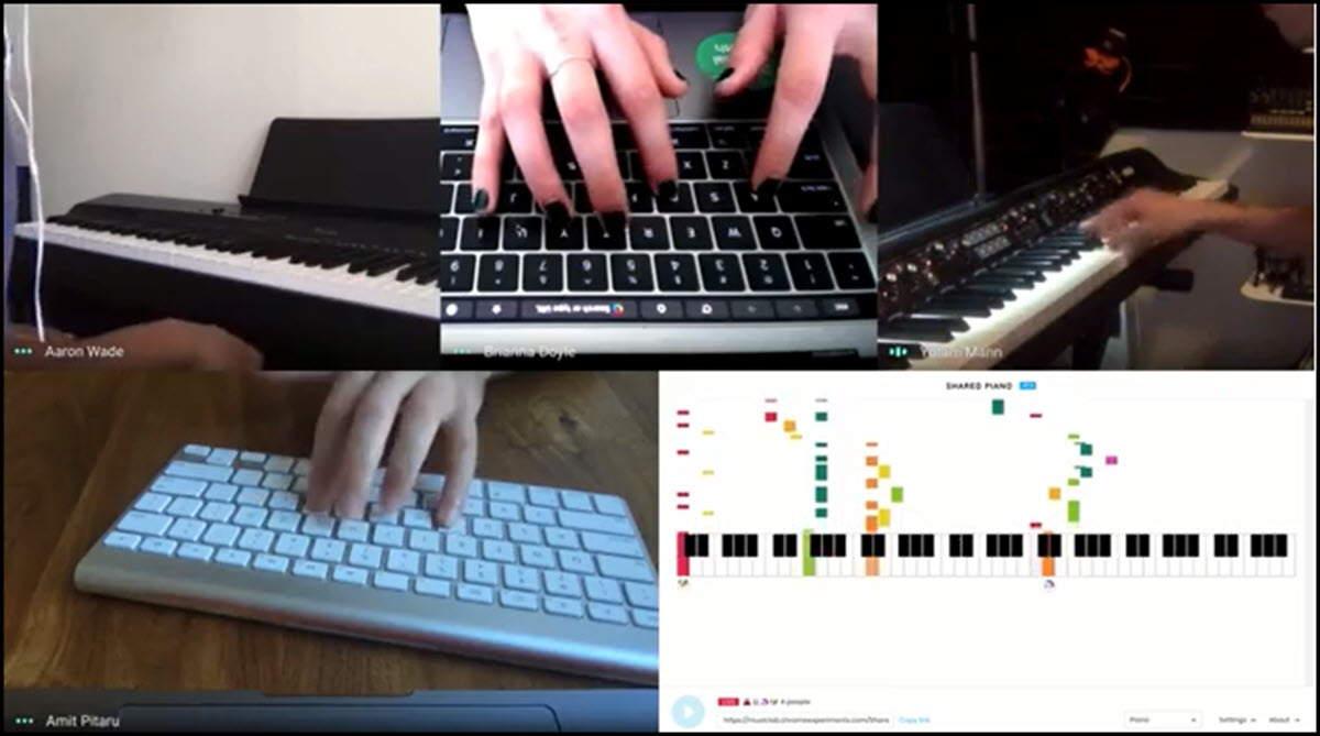 Toca el piano con tus amigos con este experimento web de Google