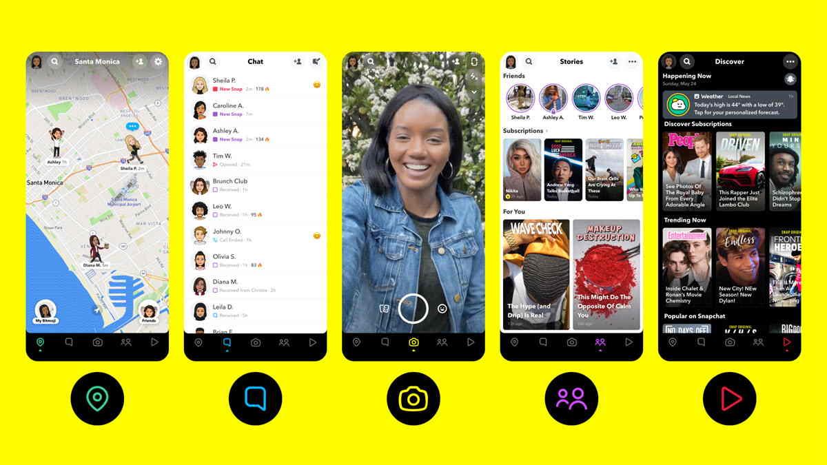 Snapchat estrena diseño y nuevas características