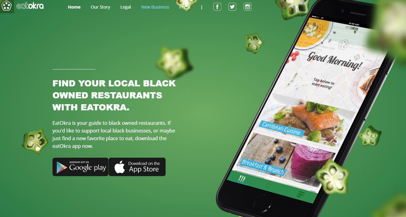 Una aplicación para encontrar restaurantes cuyo propietario sea negro