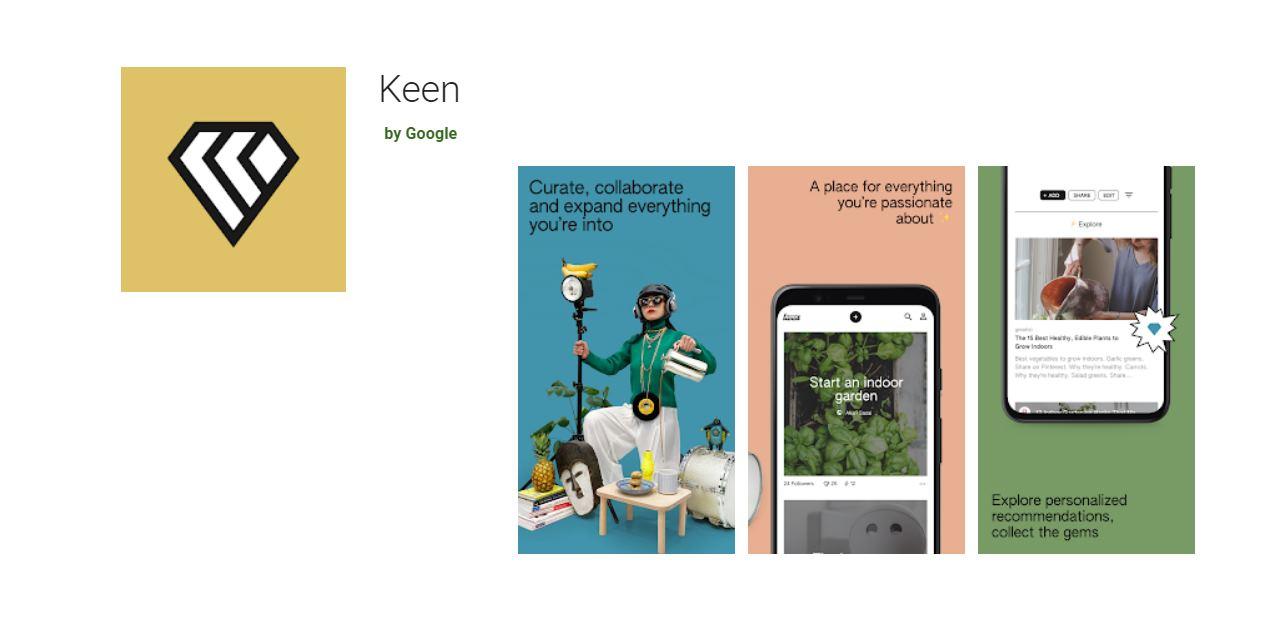 Google crea otra aplicación semejante a Pinterest: Keen