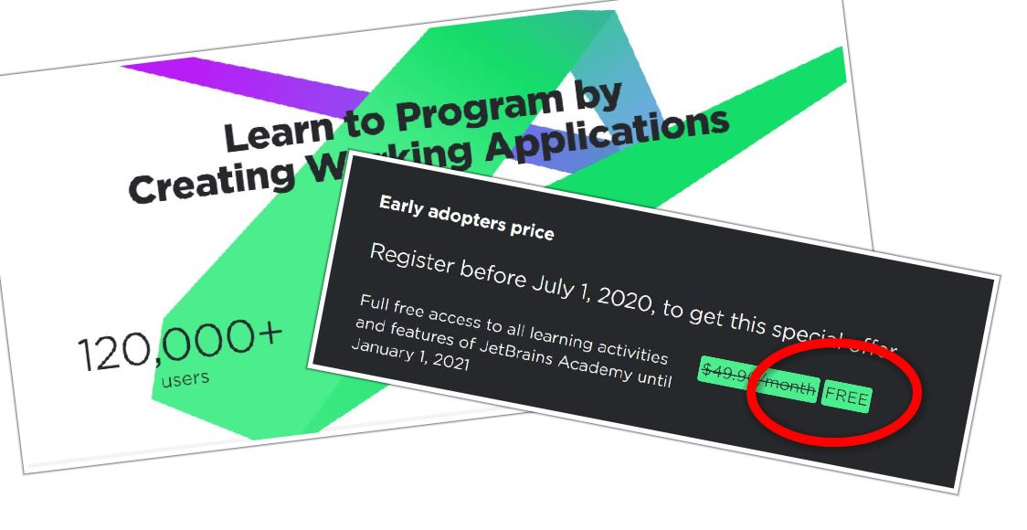 GRATIS los cursos de programación de JetBrains, con Python incluido
