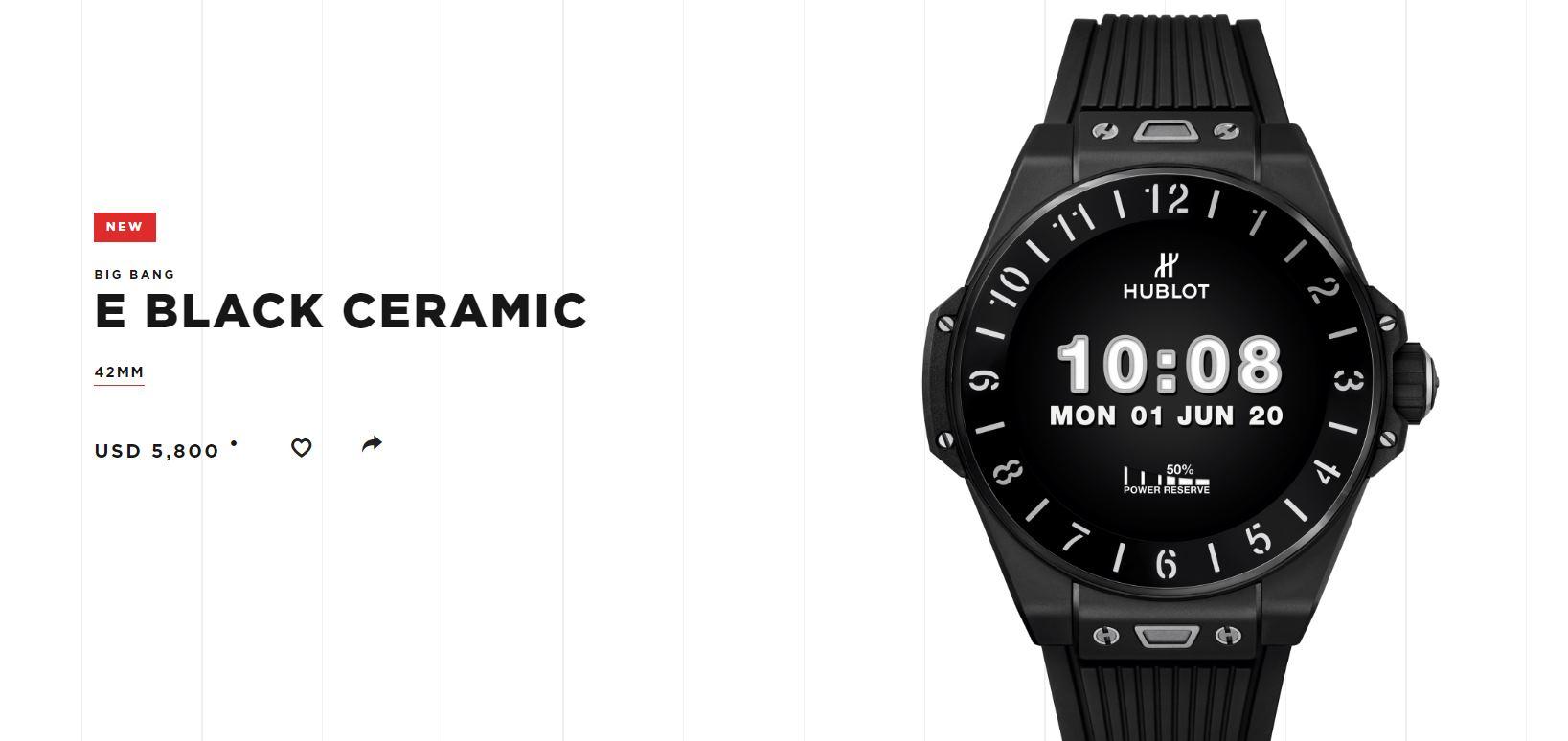 Hublot tiene un reloj inteligente de 5.800 dólares