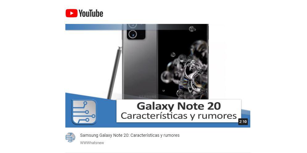 Todos los rumores del Samsung Galaxy Note 20