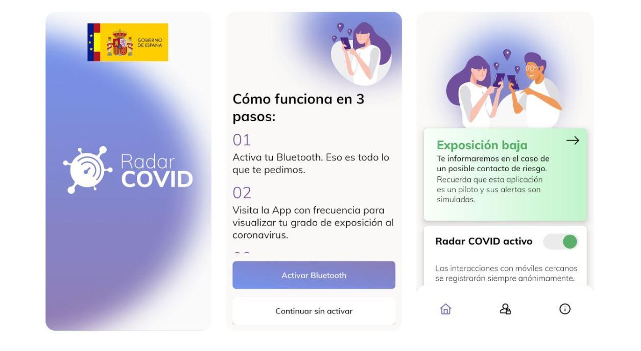 Radar Covid, la app de control del coronavirus del Gobierno de España
