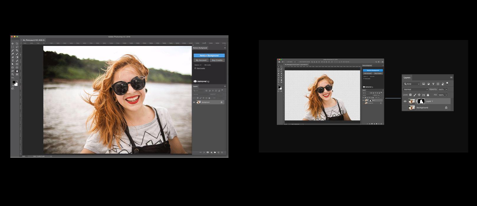 Remove.bg presenta un plugin de Photoshop para eliminar el fondo de las fotos