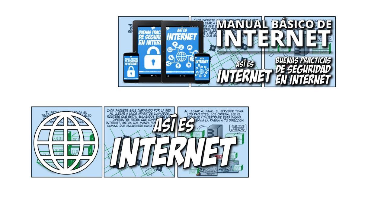 Manual básico de Internet en formato de cómic