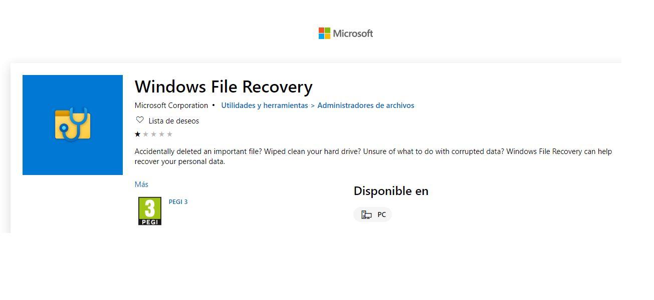 Para recuperar documentos borrados en Windows, nueva herramienta de Microsoft