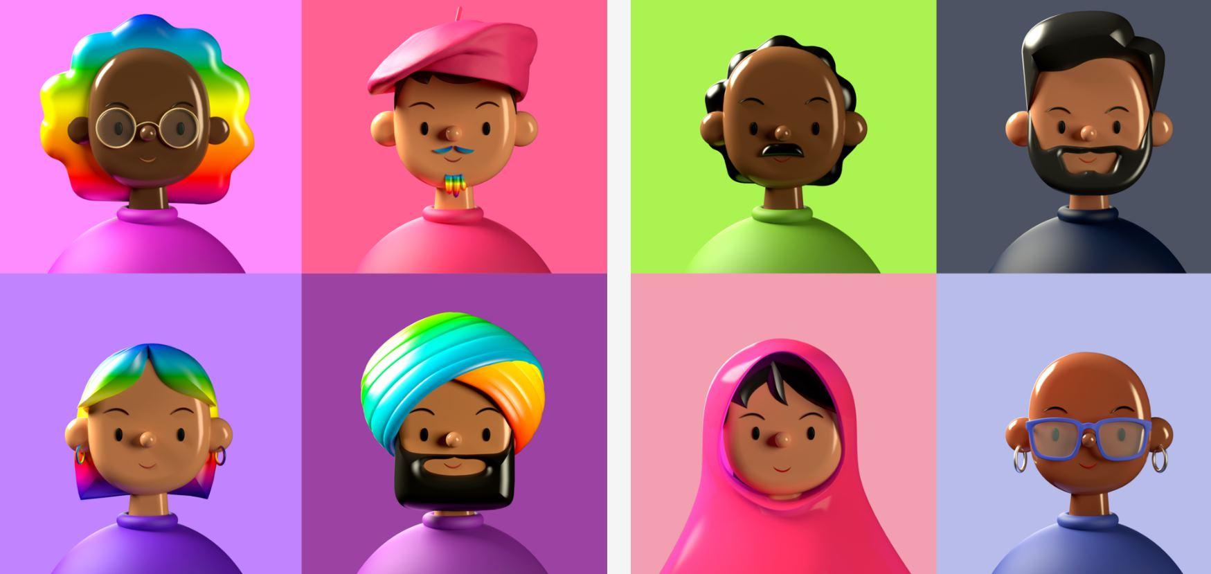 Avatares 3D gratuitos para usar en nuestros diseños