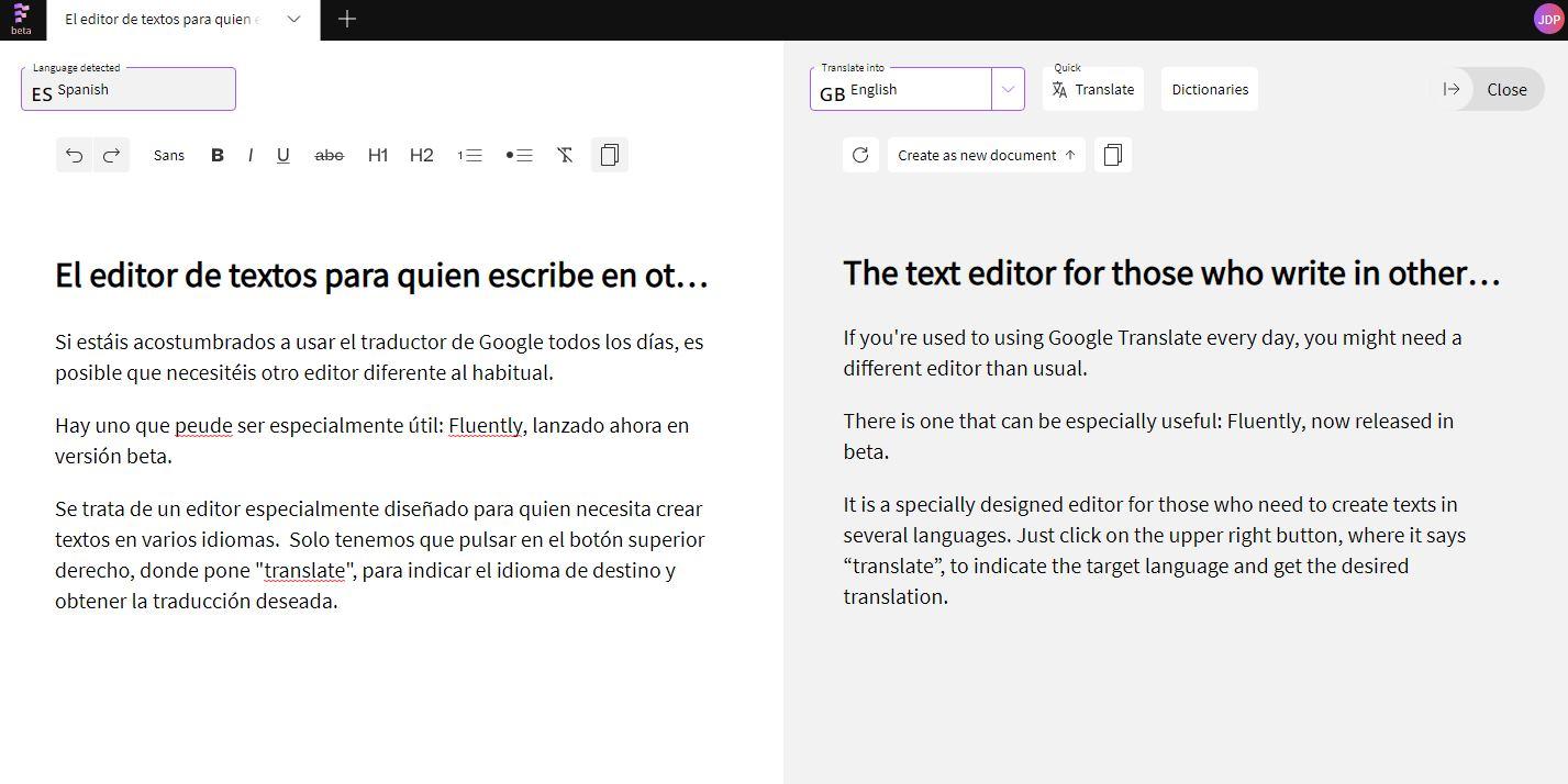 El editor de textos para quien escribe en otros idiomas