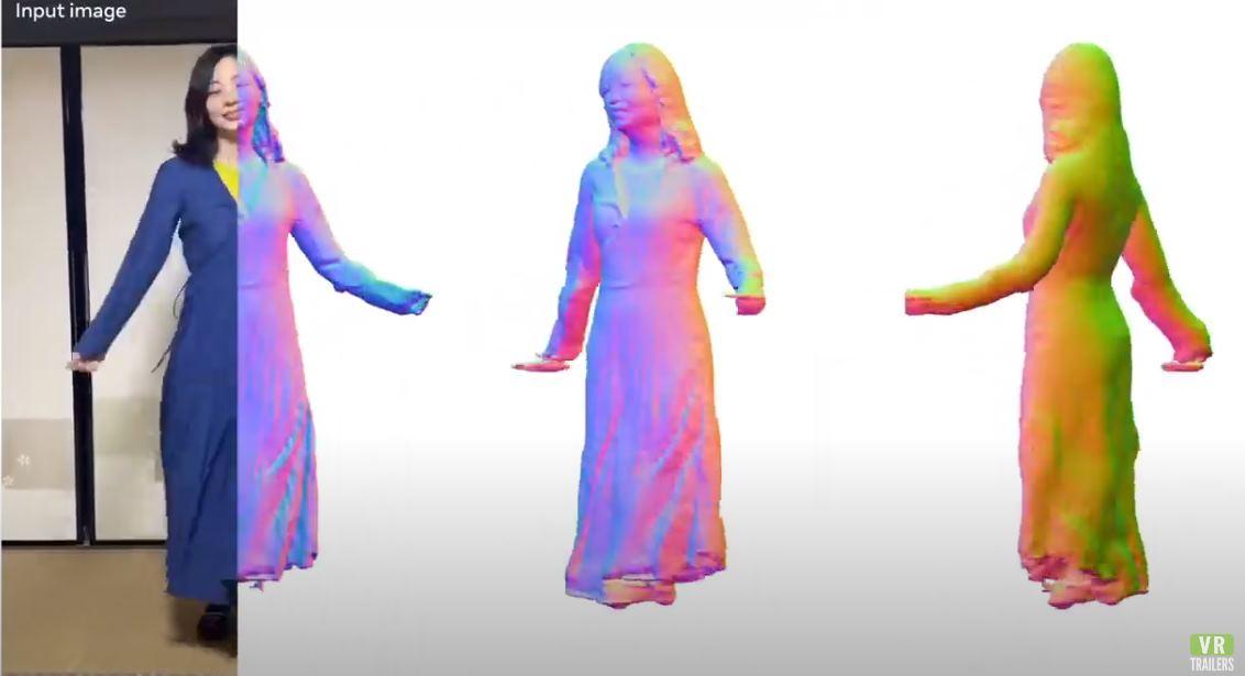 Facebook crea sistema capaz de realizar un modelo 3D de una persona con solo una cámara